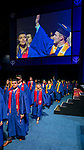 Students make their way into the arena Sunday, June 11, 2017, during the DePaul University Driehaus College of Business commencement ceremony at the Allstate Arena in Rosemont, IL. (DePaul University/Jamie Moncrief)