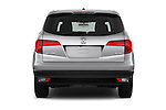 Straight rear view of 2016 Honda Pilot EX-L 5 Door Suv Rear View  stock images