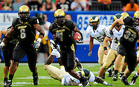 31 Aug 2008: Colorado wide receiver Josh Smith (1) carries the ball against Colorado State. The Colorado Buffaloes defeated the Colorado State Rams 38-17 at Invesco Field at Mile High in Denver, Colorado. FOR EDITORIAL USE ONLY