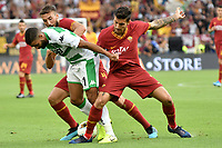 Bryan Cristante of AS Roma , Gregoire Defrel of US Sassuolo , Lorenzo Pellegrini of AS Roma <br /> Roma 15/09/2019 Stadio Olimpico <br /> Football Serie A 2019/2020 <br /> AS Roma - US Sassuolo <br /> Photo Andrea Staccioli / Insidefoto