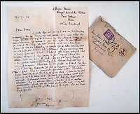 BNPS.co.uk (01202 558833)<br /> Pic:  PeterWilson/BNPS<br /> <br /> The letter written by the Reverend George Jones, which he ends with a drawing of the airship which the letter travelled on.<br /> <br /> A charming letter which was carried on the first airship to cross the Atlantic has come to light 100 years later.<br /> <br /> Reverend George Jones, who was stationed at the Royal Naval Air Station East Fortune near Edinburgh, wanted to surprise his sister Donie by sending her a letter from America.<br /> <br /> So he gave the letter to one of the crew of airship R34 ahead of the historic flight on July 2, 1919, and asked him to post it to Donie from New York.<br /> <br /> He obliged and the letter reached its final destination in Bournemouth, Dorset, several months later as it made the return journey via ship.