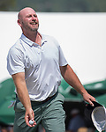 Trent Dilfer during the American Century Championship at Edgewood Tahoe Golf Course in Stateline, Nevada, Sunday, July 15, 2018.