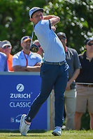 Cameron Smith (USA) watches his tee shot on 8 during Round 1 of the Zurich Classic of New Orl, TPC Louisiana, Avondale, Louisiana, USA. 4/26/2018.<br /> Picture: Golffile | Ken Murray<br /> <br /> <br /> All photo usage must carry mandatory copyright credit (&copy; Golffile | Ken Murray)
