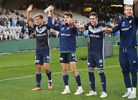 Sydney, November 25, 2018 - Keisuke Honda of the Melbourne Victory waves to fans after the Melbourne Victory and Sydney FC round 5 match at Jubilee Oval in Sydney, Australia.