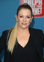LOS ANGELES CA - NOVEMBER 5: Melissa Joan Hart at the LA Premiere Of Ralph Breaks The Internet in Los Angeles, California on November 5, 2018. <br /> CAP/MPI/FS<br /> &copy;FS/MPI/Capital Pictures