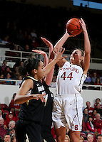 STANFORD, CA - January 27, 2013: Stanford Cardinal's Joslyn Tinkle during Stanford's 69-56 victory over the Colorado Buffaloes at Maples Pavilion in Stanford, California.