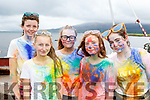 Rainbow<br /> ------------<br /> At the finish of the Cloghane/Brandon youth club fundraiser colour fun run last Sunday were L-E Siobhan N&iacute; laughing, Freya Cheevers, Emma Fitzgerald,. Ciara O'Connor and Holly Kyne.