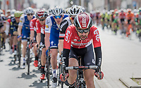 'Big Engine' Thomas de Gendt (BEL/Lotto-Soudal) in his most confortable spot (when not in the breakaway himself): pulling the peloton along<br /> <br /> 57th Brabantse Pijl - La Fl&egrave;che Braban&ccedil;onne (1.HC)<br /> 1 Day Race: Leuven &rsaquo; Overijse (197km)