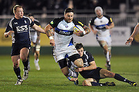 Matt Banahan is tackled to ground. End-of-season friendly match, between Bath United and the Royal Navy on March 25, 2014 at the Recreation Ground in Bath, England. Photo by: Patrick Khachfe / Onside Images