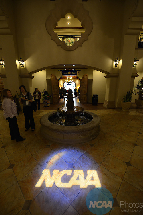 Signage at the 2013 NCAA Convention at the the Gaylord Texan Hotel in Grapevine, TX, Thursday, January 17, 2013. (Peter Lockley/NCAA Photos)