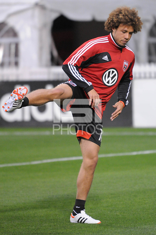 D.C. United midfielder Nick DeLeon (18) D.C. United tied The Montreal Impact 1-1, at RFK Stadium, Wednesday April 18 , 2012.