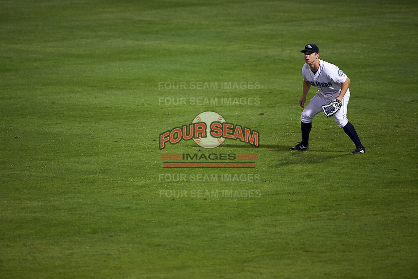 Peoria Javelinas outfielder Tyler O'Neill (4) during an Arizona Fall League game against the Scottsdale Scorpions on October 24, 2015 at Peoria Stadium in Peoria, Arizona.  Peoria defeated Scottsdale 3-1.  (Mike Janes/Four Seam Images)