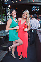 Kolby Keens and Paulina Fichtenmayer attend Thrillist & FX Present Party Against Humanity at The Den.
