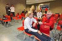 Februari 04, 2015, Apeldoorn, Omnisport, Fed Cup, Netherlands-Slovakia, Predraw persconferentie, Michaella Krajicek being interview bij Robert Misset.<br /> Photo: Tennisimages/Henk Koster