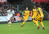 4th November 2017, Liberty Stadium, Swansea, Wales; EPL Premier League football, Swansea City versus Brighton and Hove Albion; Tammy Abraham of Swansea City chases the ball after beating several Brighton players