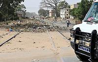 SENEGAL, Thies, abandoned railway line Dakar - Bamako / Gleise der stillgelegten Bahnlinie Dakar-Bamako