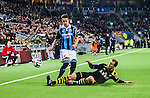 Stockholm 2014-04-16 Fotboll Allsvenskan Djurg&aring;rdens IF - AIK :  <br /> Djurg&aring;rdens Haris Radetinac i kamp om bollen med AIK:s Per Karlsson <br /> (Foto: Kenta J&ouml;nsson) Nyckelord:  Djurg&aring;rden DIF Tele2 Arena AIK