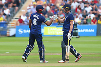 Varun Chopra (L) and Daniel Lawrence of Essex during Gloucestershire vs Essex Eagles, NatWest T20 Blast Cricket at The Brightside Ground on 13th August 2017