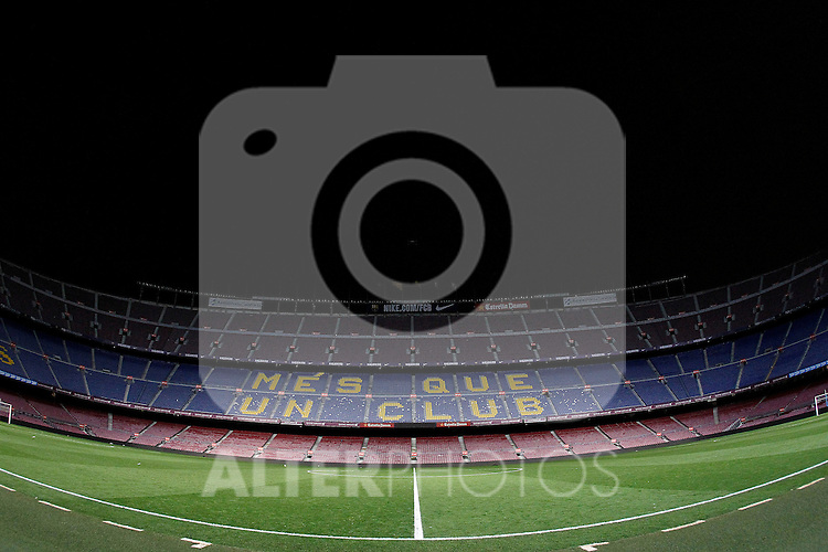 FC Barcelona's stadium Camp Nou after Spanish Kings Cup semifinal 2nd leg match FC Barcelona v Atletico de Madrid. February 07,2017. (ALTERPHOTOS/Acero)