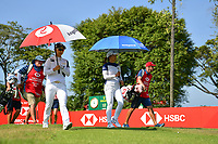 SINGAPORE - MARCH 03: Jin Young Ko and Hyo Joo Kim of South Korea walking-off the 1st tee during the final round of the HSBC Women's World Championship 2019 at Sentosa Golf Club - Tanjong Course, Singapore on March 03, 2019.<br /> .<br /> .<br /> .<br /> (Photo by: Naratip Golf Srisupab/SEALs Sports Images)<br /> .<br /> Any image use must include a mandatory credit line adjacent to the content which should read: Naratip Golf Srisupab/SEALs Sports Images