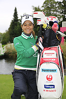 Ai Miyazato (JPN) playing her final tournament of her career  during Wednesday's Pro-Am Day of The Evian Championship 2017, the final Major of the ladies season, held at Evian Resort Golf Club, Evian-les-Bains, France. 13th September 2017.<br /> Picture: Eoin Clarke | Golffile<br /> <br /> <br /> All photos usage must carry mandatory copyright credit (&copy; Golffile | Eoin Clarke)