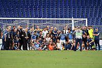 SS Lazio players and staff celebrate at the end of the Serie A football match between SS Lazio and Cagliari Calcio at Olimpico stadium in Rome ( Italy ), July 23th, 2020. Play resumes behind closed doors following the outbreak of the coronavirus disease. Photo Andrea Staccioli / Insidefoto