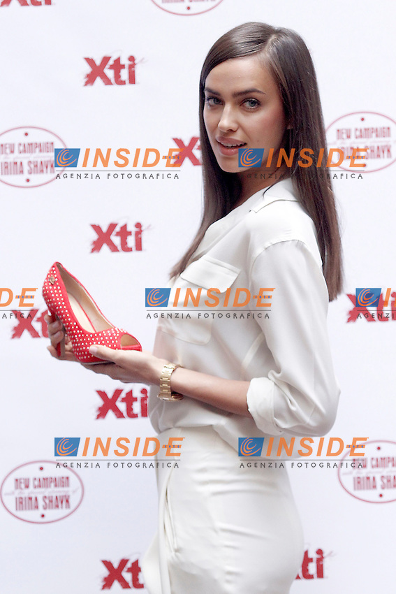La top model russa Irina Shayk presenta la nuova collezione primavera estate di XTI.Madrid 10/5/2013 .Foto Insidefoto / ALTERPHOTOS/Acero