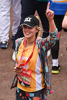 Ashley James<br /> finishes the 2016 London Marathon, The Mall, London<br /> <br /> <br /> ©Ash Knotek  D3108 24/04/2016