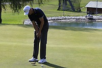 Ross Fisher (ENG) putts on the 12th green during Thursday's Round 1 of the 2017 Omega European Masters held at Golf Club Crans-Sur-Sierre, Crans Montana, Switzerland. 7th September 2017.<br /> Picture: Eoin Clarke | Golffile<br /> <br /> <br /> All photos usage must carry mandatory copyright credit (&copy; Golffile | Eoin Clarke)