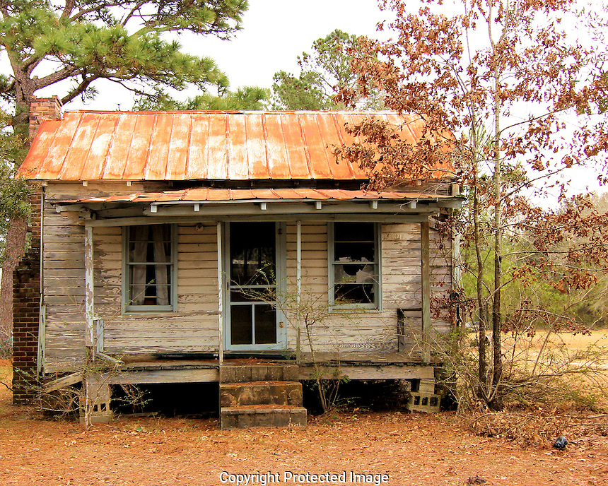 This cabin is situated on what once was a large cotton farm. The cabin was rented to sharecroppers who worked the land.