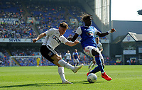 Swansea City's Daniel James, Ipswich Town's Trevoh Chalobah<br /> <br /> Photographer Hannah Fountain/CameraSport<br /> <br /> The EFL Sky Bet Championship - Ipswich Town v Swansea City - Monday 22nd April 2019 - Portman Road - Ipswich<br /> <br /> World Copyright © 2019 CameraSport. All rights reserved. 43 Linden Ave. Countesthorpe. Leicester. England. LE8 5PG - Tel: +44 (0) 116 277 4147 - admin@camerasport.com - www.camerasport.com