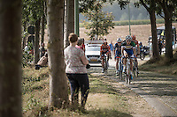 breakaway group over the paddestraat<br /> <br /> 12th Eneco Tour 2016 (UCI World Tour)<br /> stage 4: Aalter - St-Pieters-Leeuw (202km)