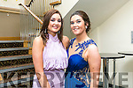 Enjoying the Colaiste na Sceilge Debutante Ball at Ballyroe Heights Hotel on Tuesday were l-r  Cliona Fitzgerald and Tara O'Sullivan