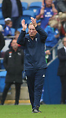30th September 2017, Cardiff City Stadium, Cardiff, Wales; EFL Championship football, Cardiff City versus Derby County; Neil Warnock, Manager of Cardiff City applauds fans at the end of the game