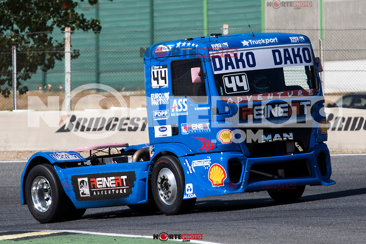 German driver Stephanie Halm belonging German team Stephanie Halm during the super pole SP1 of the XXX Spain GP Camion of the FIA European Truck Racing Championship 2016 in Madrid. October 01, 2016. (ALTERPHOTOS/Rodrigo Jimenez) /NORTEPHOTO.COM