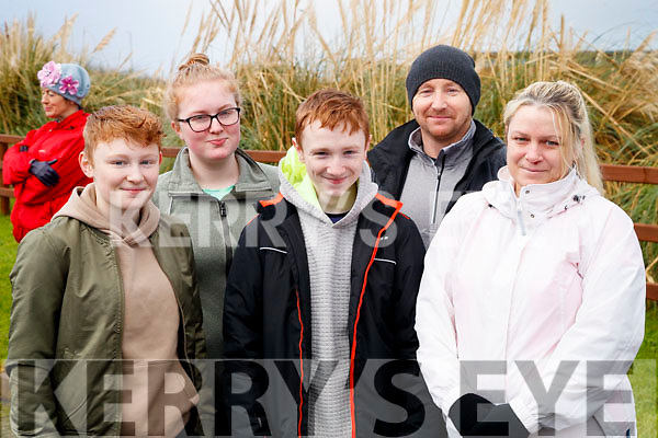 Lianne Donnelly, Elena Barry, Tommy Donnelly, Thomas Donnelly and Ciara Donnelly, all from Tralee, pictured at the Operation Transformation Walk at Tralee Bay Wetlands on Saturday morning last.