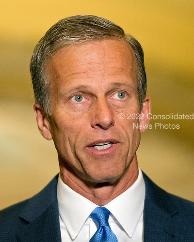 United States Senator John Thune (Republican of South Dakota) speaks to reporters following the Republican Party luncheon in the United States Capitol in Washington, DC on Tuesday, June 27, 2017.<br /> Credit: Ron Sachs / CNP