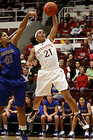 STANFORD, CA - DECEMBER 13:  Rosalyn Gold-Onwude of the Stanford Cardinal during Stanford's 96-60 win over DePaul on December 13, 2009 at Maples Pavilion in Stanford, California.