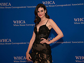 "Kelleth Cuthbert, the ""Fiji Water Girl"" arrives for the 2019 White House Correspondents Association Annual Dinner at the Washington Hilton Hotel on Saturday, April 27, 2019.<br /> Credit: Ron Sachs / CNP<br /> <br /> (RESTRICTION: NO New York or New Jersey Newspapers or newspapers within a 75 mile radius of New York City)"