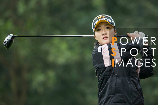 Ji Hyun Oh of South Korea plays at the 14th hole during Round 2 of the World Ladies Championship 2016 on 11 March 2016 at Mission Hills Olazabal Golf Course in Dongguan, China. Photo by Victor Fraile / Power Sport Images