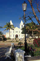 The Iglesia San Jose and Plaza Mijares in the town of San Jose del Cabo, Baja California Sur, Mexico. This church is built on the site of the original 1730 Mision de San Jose del Cabo.