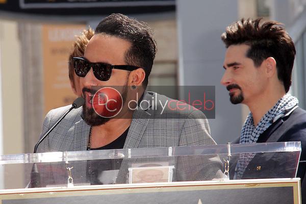 "AJ McLean, Kevin Richardson<br /> at the ""Backstreet Boys"" Star on the Walk of Fame, Hollywood, CA 04-22-13<br /> David Edwards/Dailyceleb.com 818-249-4998"