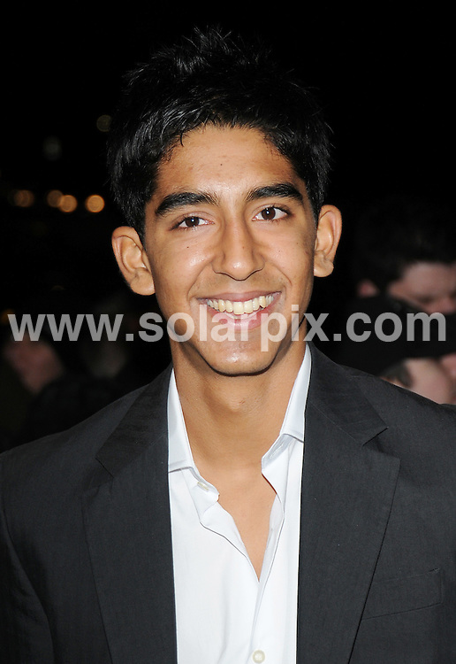 **ALL ROUND PICTURES FROM SOLARPIX.COM**.**WORLDWIDE SYNDICATION RIGHTS**.Red carpet arrivals and Press Room at The London Critics' Circle Film Awards held at the Grosvenor House Hotel, Park Lane, Mayfair, London, UK. 4 February 2009..This pic: Dev Patel..JOB REF: 8412 BTT      DATE: 04_02_2009.**MUST CREDIT SOLARPIX.COM OR DOUBLE FEE WILL BE CHARGED**.**ONLINE USAGE FEE  GBP 50.00 PER PICTURE - NOTIFICATION OF USAGE TO PHOTO @ SOLARPIX.COM**
