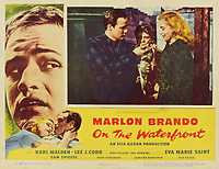 On the Waterfront (1954) <br /> Lobby card with Marlon Brando &amp; Eva Marie Saint<br /> *Filmstill - Editorial Use Only*<br /> CAP/MFS<br /> Image supplied by Capital Pictures