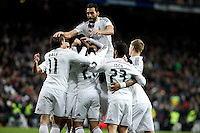 Jesse, Arbeloa Gareth Bale, Marcelo, Kroos of Real Madrid during La Liga match between Real Madrid and Sevilla at Santiago Bernabeu Stadium in Madrid, Spain. February 04, 2015. (ALTERPHOTOS/Caro Marin) /NORTEphoto.com