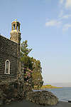 Israel, Sea of Galilee, the Church of St Peter's Primacy in Tabgha was built by the Franciscans in 1934 on the foundations of a Byzantine church housing the Mensa Christi rock