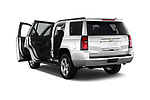 Rear three quarter door view of a 2015 Chevrolet Tahoe 2WD LT 5 Door SUV