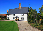Historic farmhouse building, The Chestnuts, Monewden, Suffolk, England, UK