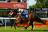Winner of The Shadwell Stud Racing Excellence Apprentice Handicap, Gold Hunter(5) ridden by Joshua Bryan and trained by Steve Flook  during Afternoon Racing at Salisbury Racecourse on 13th June 2017