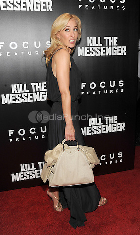 New York, NY- October 9: Gillian Anderson attends the  'Kill the Messenger' New York Premiere at the Museum of Modern Art on October 9, 2014 in New York City. Credit: John Palmer/MediaPunch